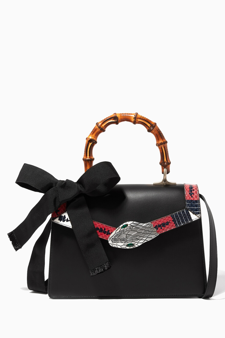 837974c6aa6 Shop Gucci Multicolour Black Lilith Leather Top Handle Bag for Women