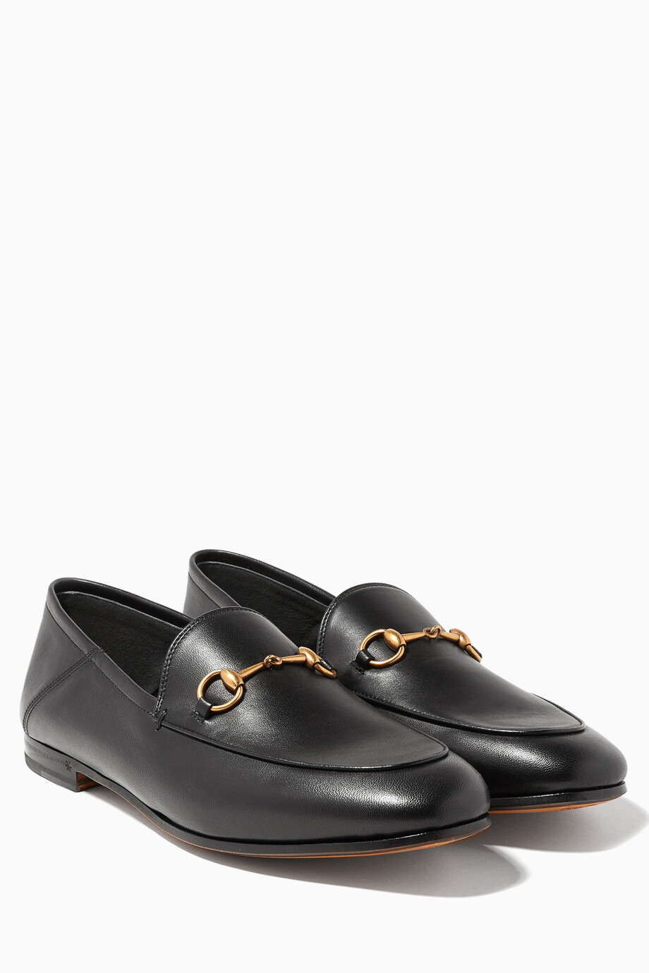 cb081c06511a Shop Gucci Black Black Brixton Leather Loafers for Women
