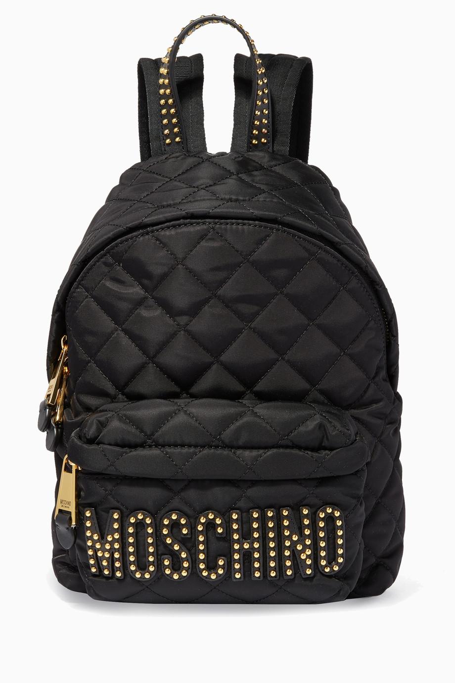 dfa29b79c تسوق حقيبة ظهر متوسطة مبطنة سوداء Moschino أسود للنساء | اُناس السعودية