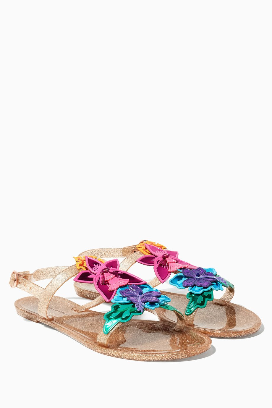 4be1e436712 Shop Sophia Webster Gold Gold Hula Floral Sandals for Women