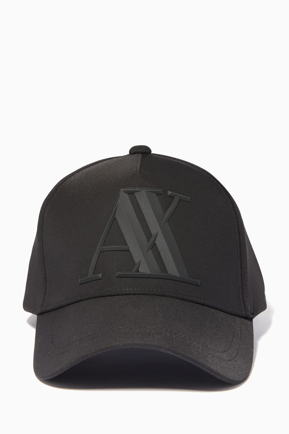 fc28bb2c2 Black Roman Cap Black Roman Cap Black Roman Cap. Armani Exchange