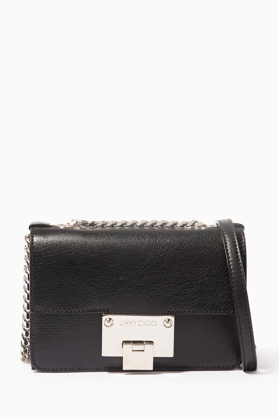 e063132107d7 Shop Jimmy Choo Black Black Rebel Soft Mini Shoulder Bag for Women