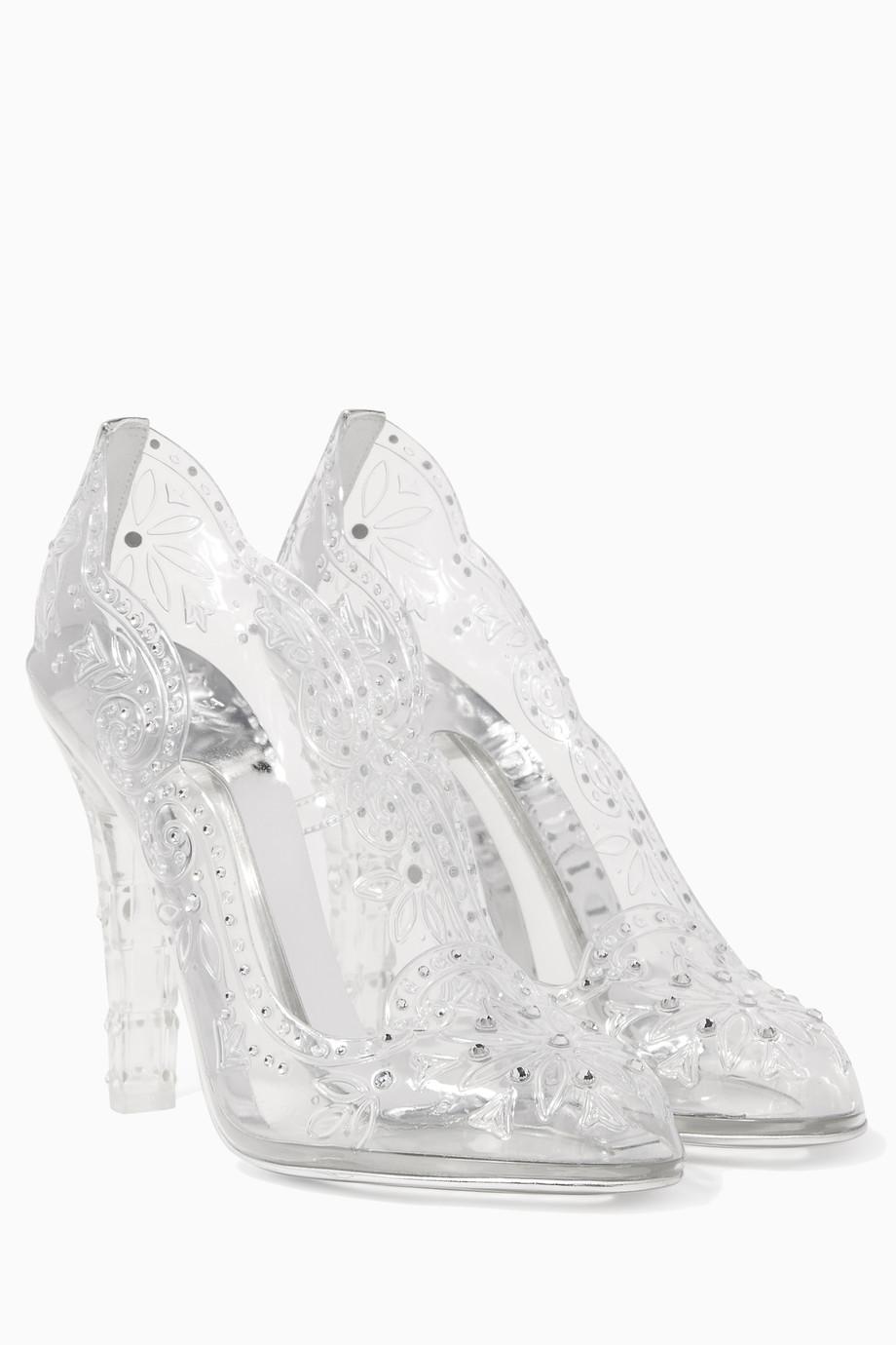 bc68d5717ff8 Shop Dolce   Gabbana Neutral Clear Crystal-Embellished Cinderella ...