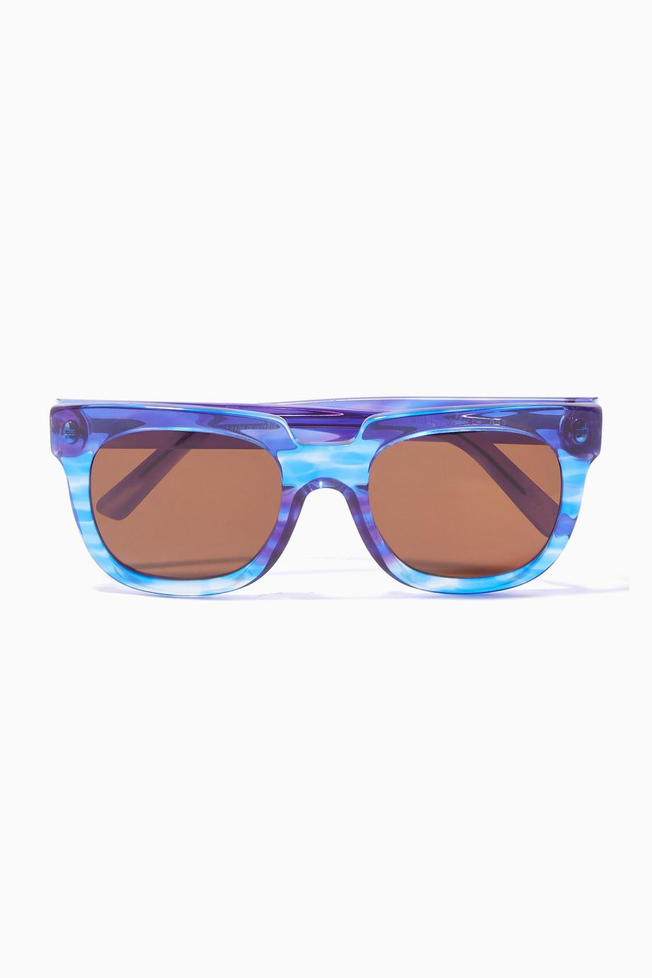 3d3af2679 تسوق نظارات شمسية فيكتوريا إطار مربع كبيرة ازرق Andy Wolf أزرق ...