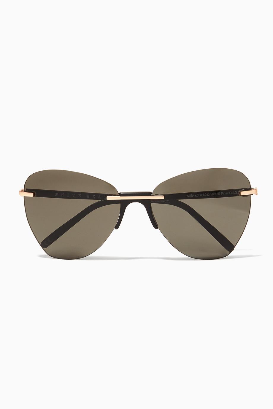 44eb8e0a9f4e Shop Andy Wolf Black Black Aria Sunglasses for Women