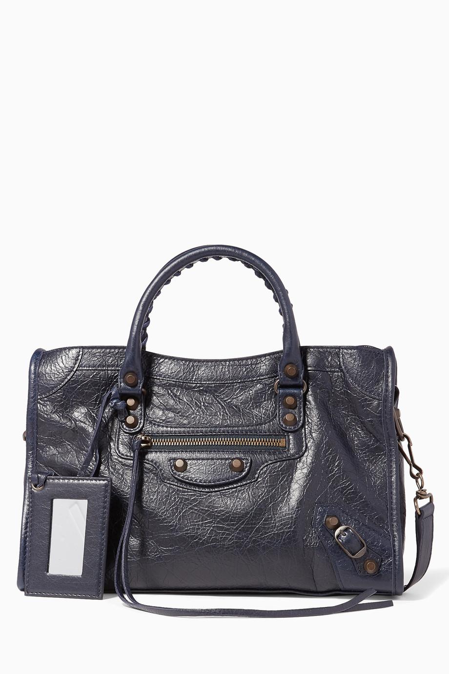 e05c4e32a Shop Balenciaga Blue Midnight-Blue Classic City S Bag for Women | Ounass  Saudi