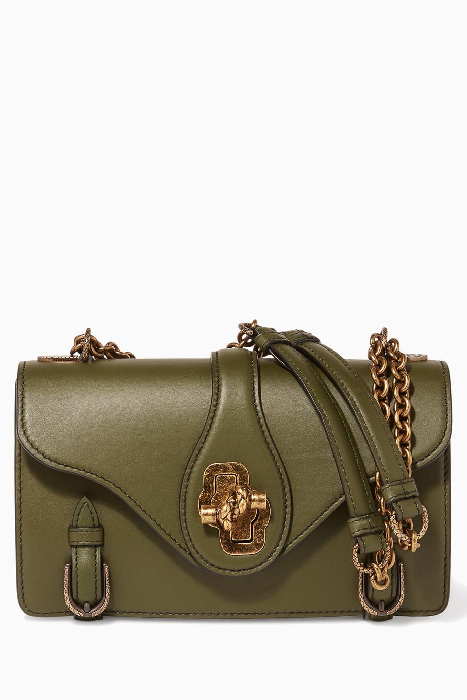 4d570e6290 Shop Bottega Veneta Green Dark-green City Knot Shoulder Bag for Women