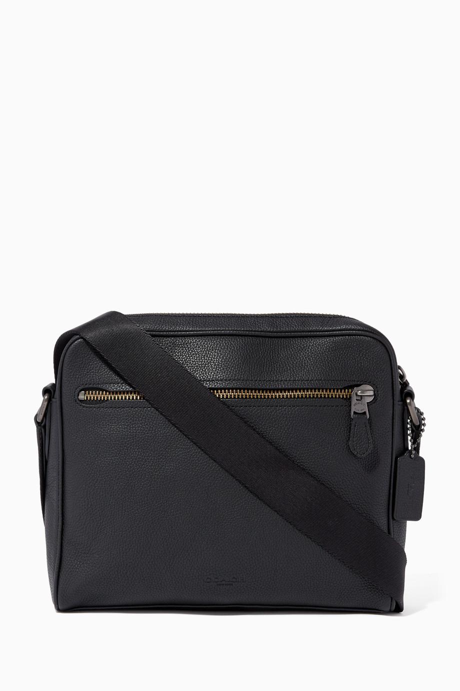 Shop Coach Black Black Rogue Leather Briefcase for Men   Ounass UAE e621693280
