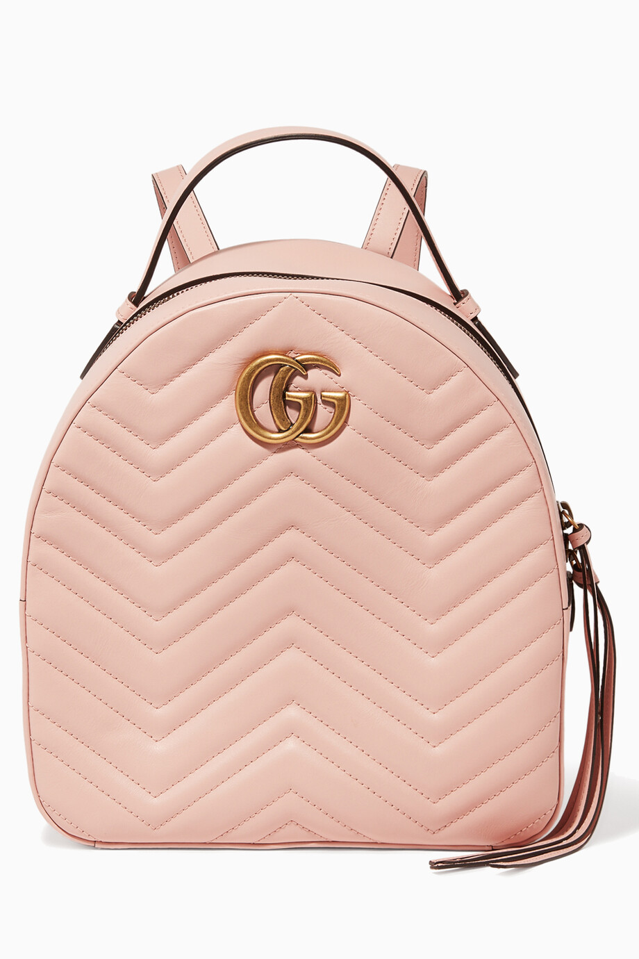 cc498969e0ef Shop Gucci Pink Light-Pink GG Marmont Quilted Leather Backpack for Women