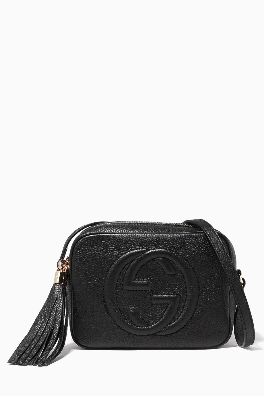 67e137cf90099a Shop Gucci Black Black Soho Leather Disco Bag for Women | Ounass Bahrain