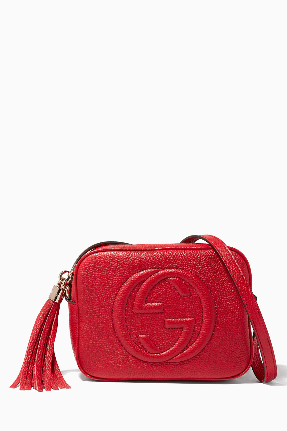 7445c07cec2 Shop Gucci Red Red Soho Leather Disco Bag for Women