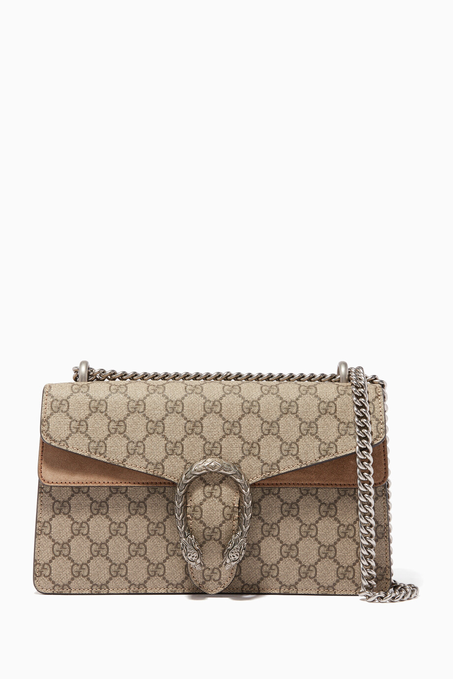 71692ec499c6 Shop Gucci Neutral Beige Small Dionysus GG Shoulder Bag for Women ...