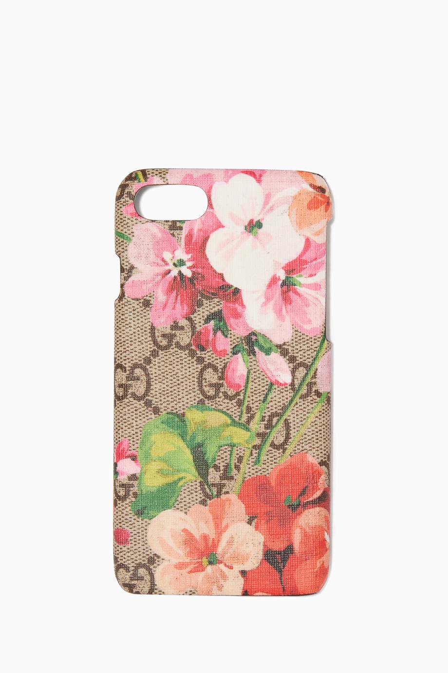best website 842b5 5758e Shop Gucci Pink Beige GG Blooms iPhone® 7 Case for Women ...