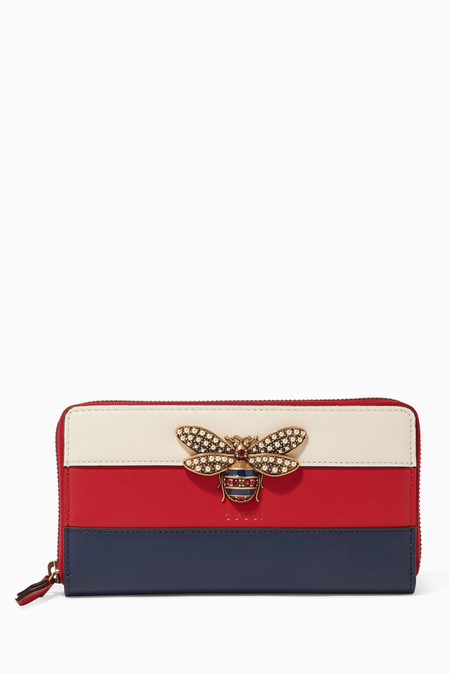 7c08357ced59 Shop Gucci Red Red Queen Margaret Zip Around Leather Wallet for ...