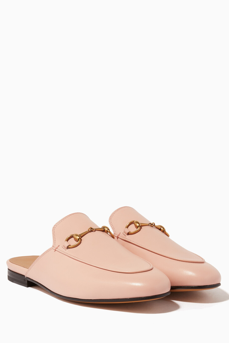 f5502fd944b Shop Gucci Pink Light-Pink Leather Princetown Loafer for Women ...