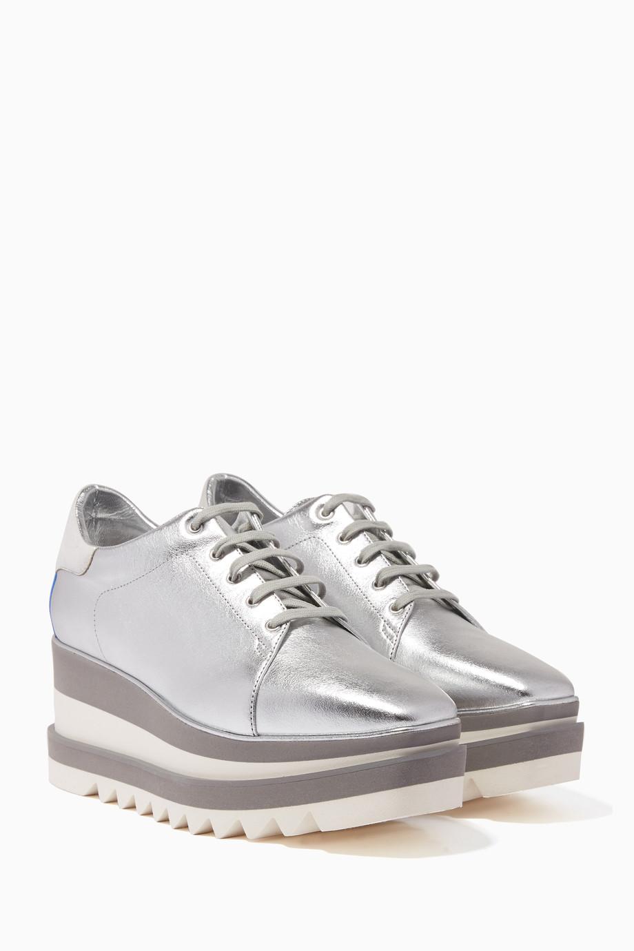 539a923e0e5d Shop Stella McCartney Silver Silver Sneak-Elyse Sneakers for Women ...