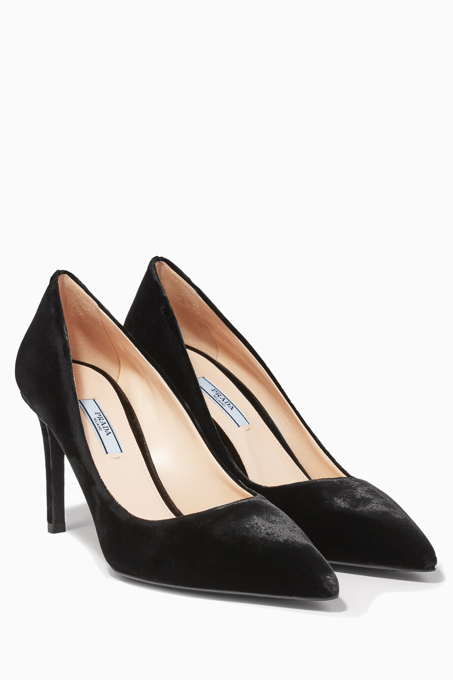 8d792cf74c8 Shop Prada Black Black Velvet Pumps for Women | Ounass Kuwait