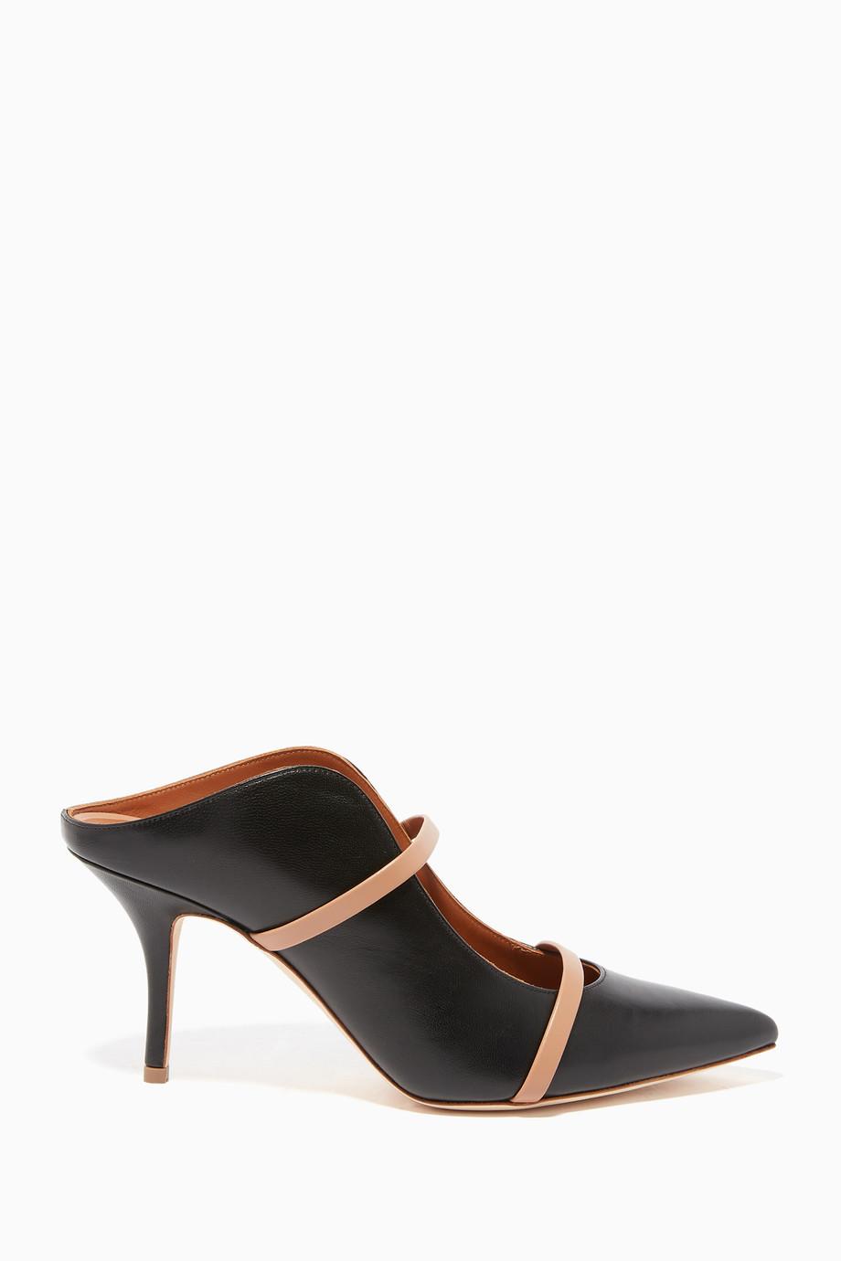 31d38b785f Shop Malone Souliers Black Black Maureen Nappa Mules for Women | Ounass