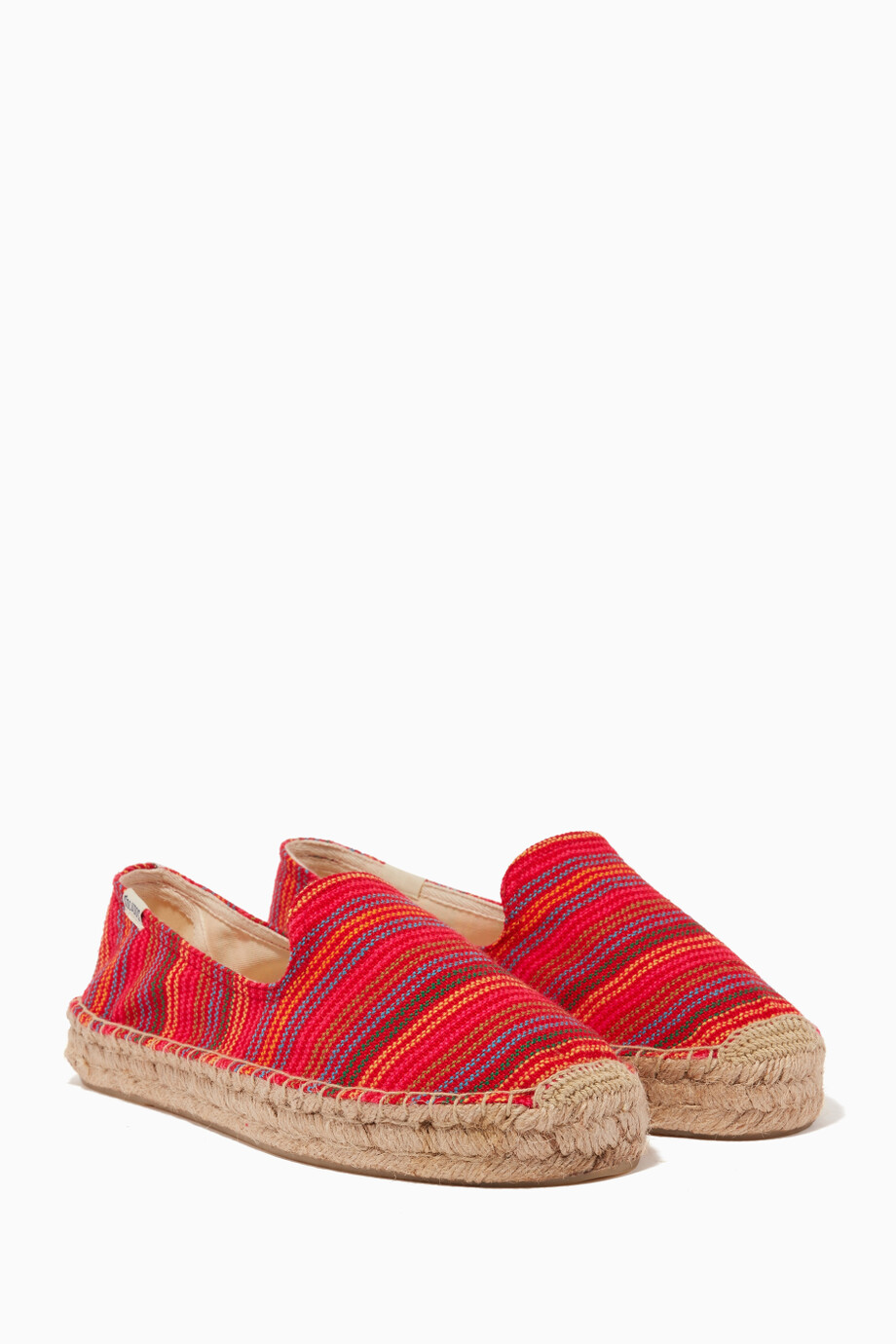 5831710bd87 Shop Soludos Red Red Baja Striped Espadrille Smoking Slipper for ...