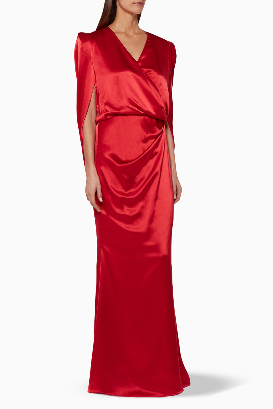 20b5a6952a2 Shop Talbot Runhof Red Red Draped-Back Gown for Women