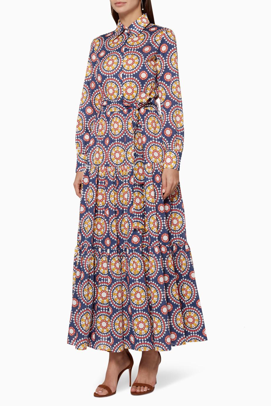 fb9c4698b5af7 Shop La DoubleJ Editions Multicolour Multi-Colour Bellini Dress for Women