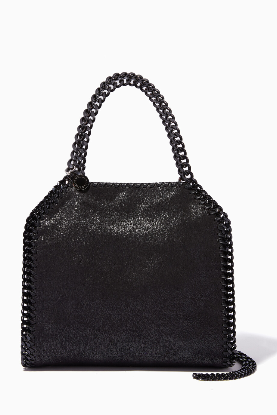 f3a8f610b35ac Shop Stella McCartney Black Black Falabella Shaggy Deer Mini ...