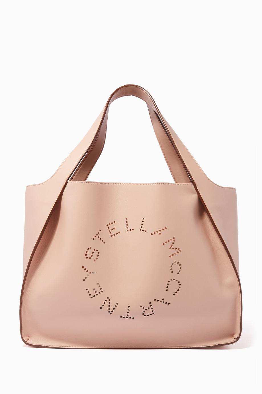 4d415a4741a45 تسوق حقيبة يد بشعار الماركة وردي فاتح ستيلا مكارتني وردي للنساء