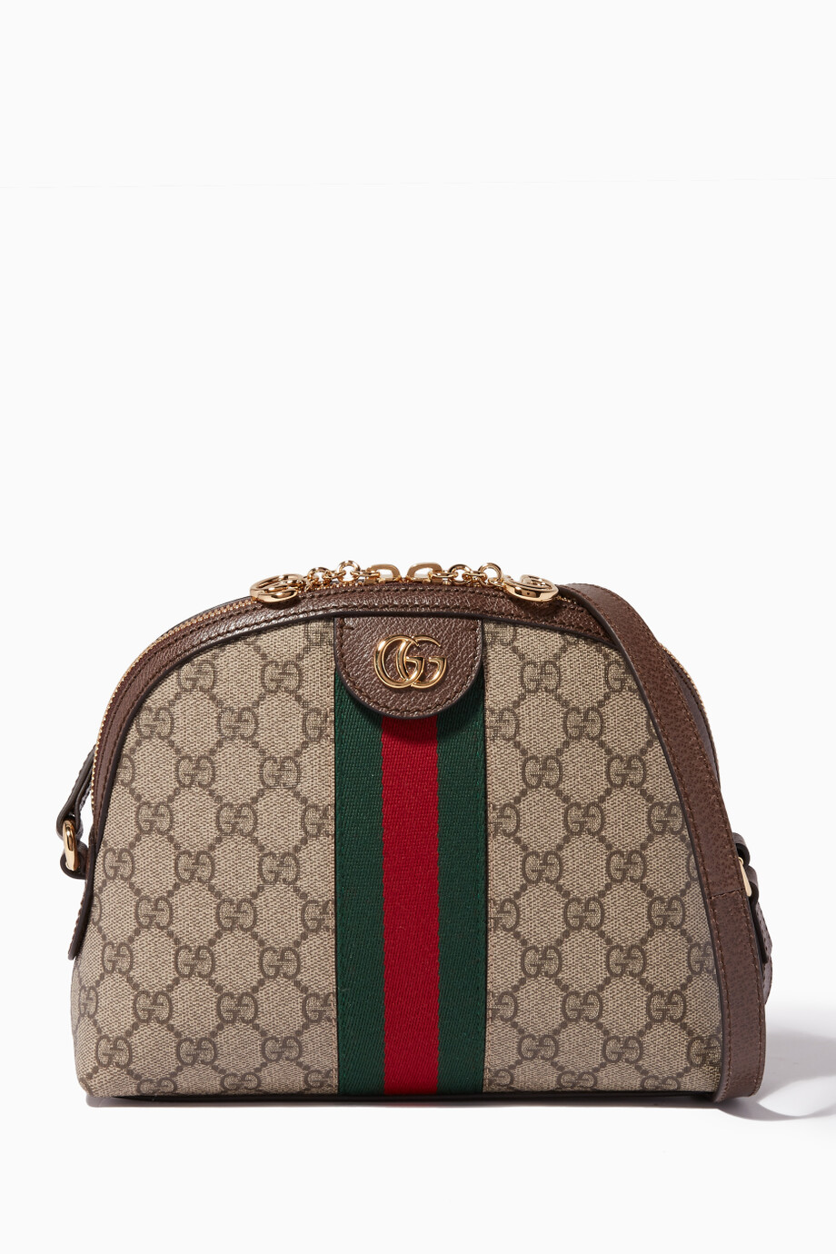 6351b5ffbfb83 Shop Gucci Brown Brown Ophidia GG Shoulder Bag for Women