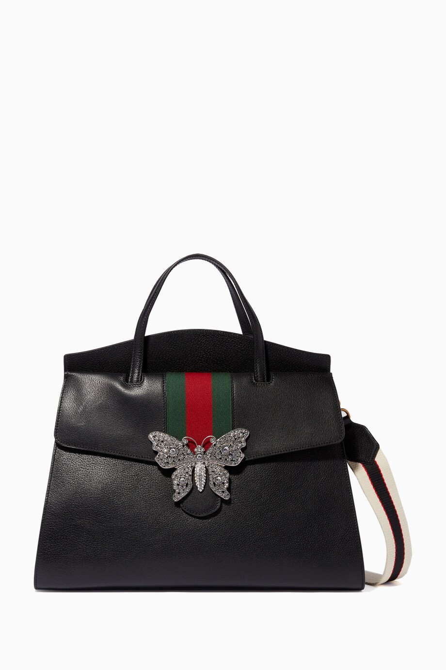 19fa94ee2ca5 Shop Gucci Black Black Large Totem Top Handle Bag for Women | Ounass ...
