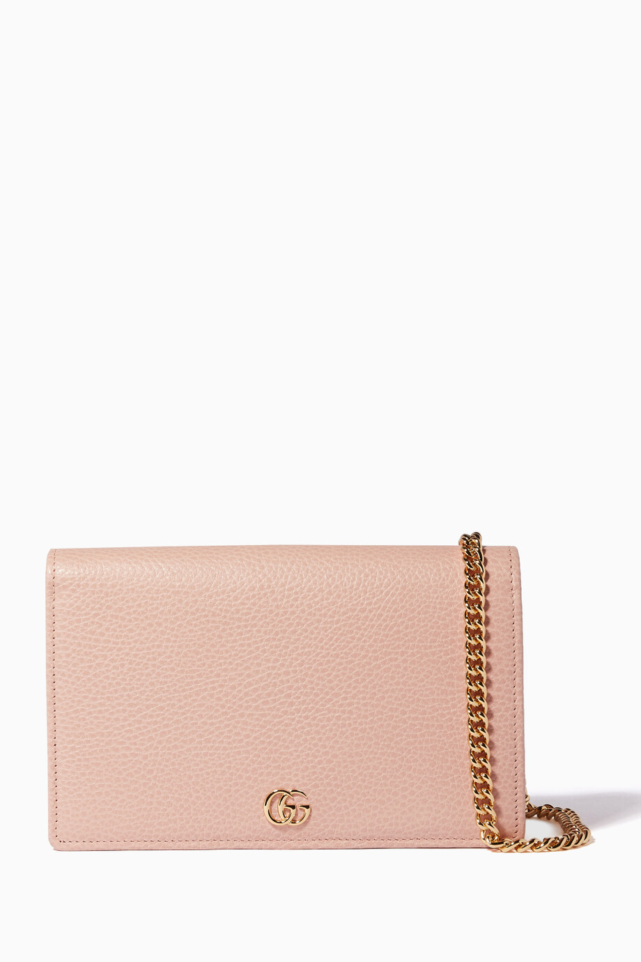 4f2a53a2083 Shop Gucci Pink Mini GG Marmont Chain Wallet for Women