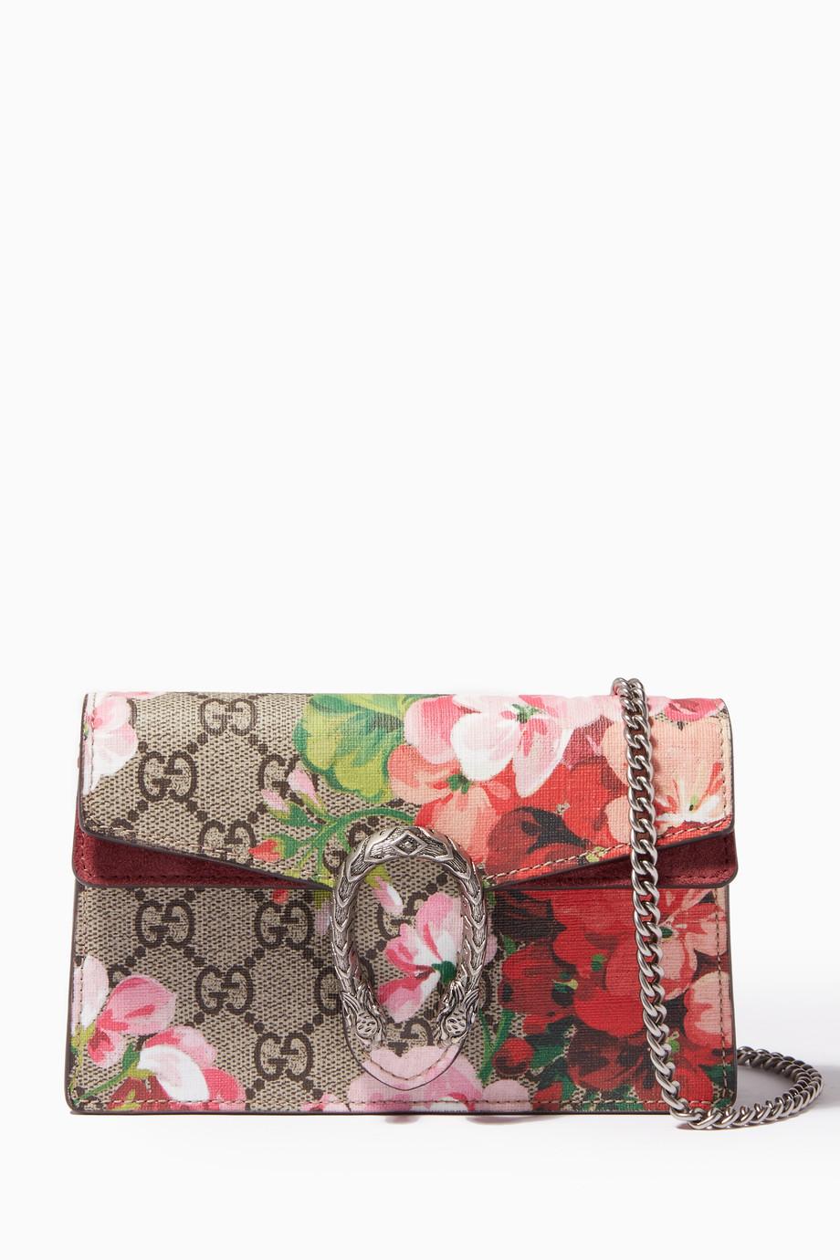 d917680cb Shop Gucci Pink Beige Super Mini Dionysus GG Supreme Shoulder ...