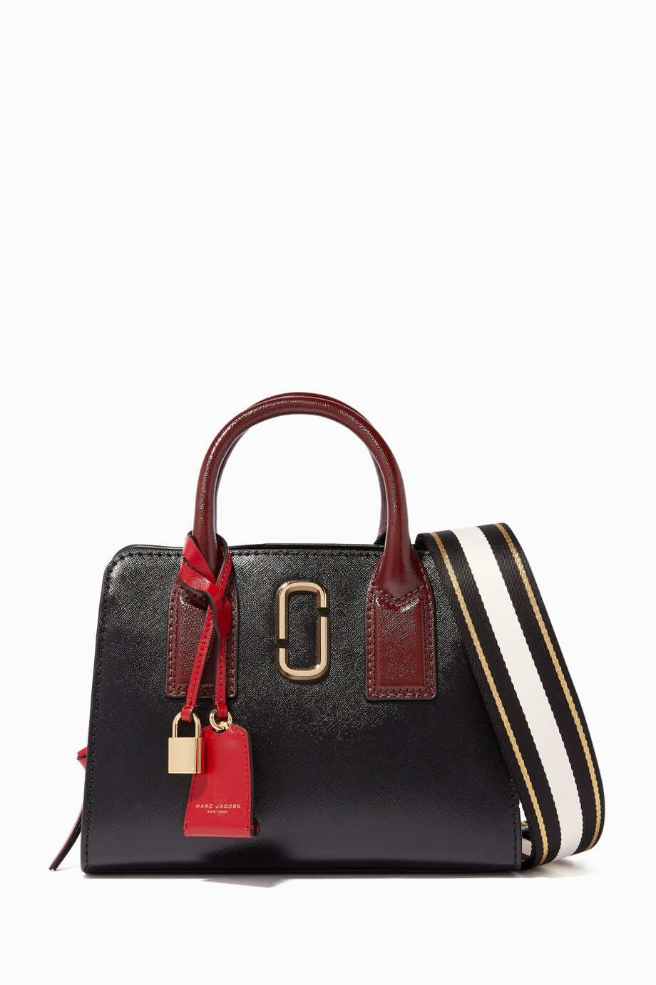 163bb030eedb Shop Marc Jacobs Red Black   Red Little Big Shot Tote Bag for Women