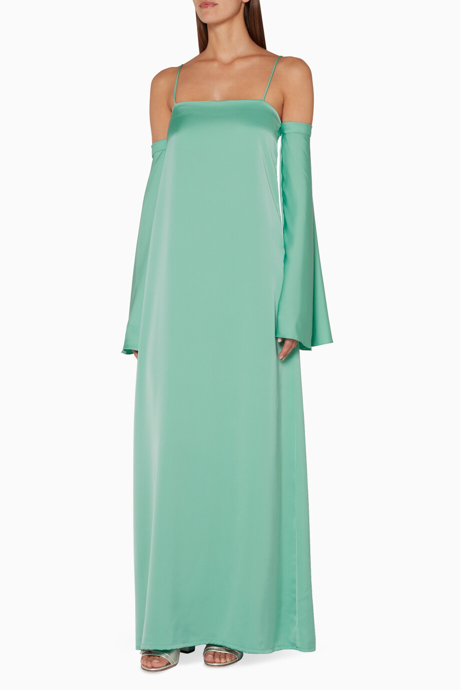 9ca8e3a88813 Shop Nora Al Shaikh Green Green Tiffany Off-The-Shoulder Dress for ...