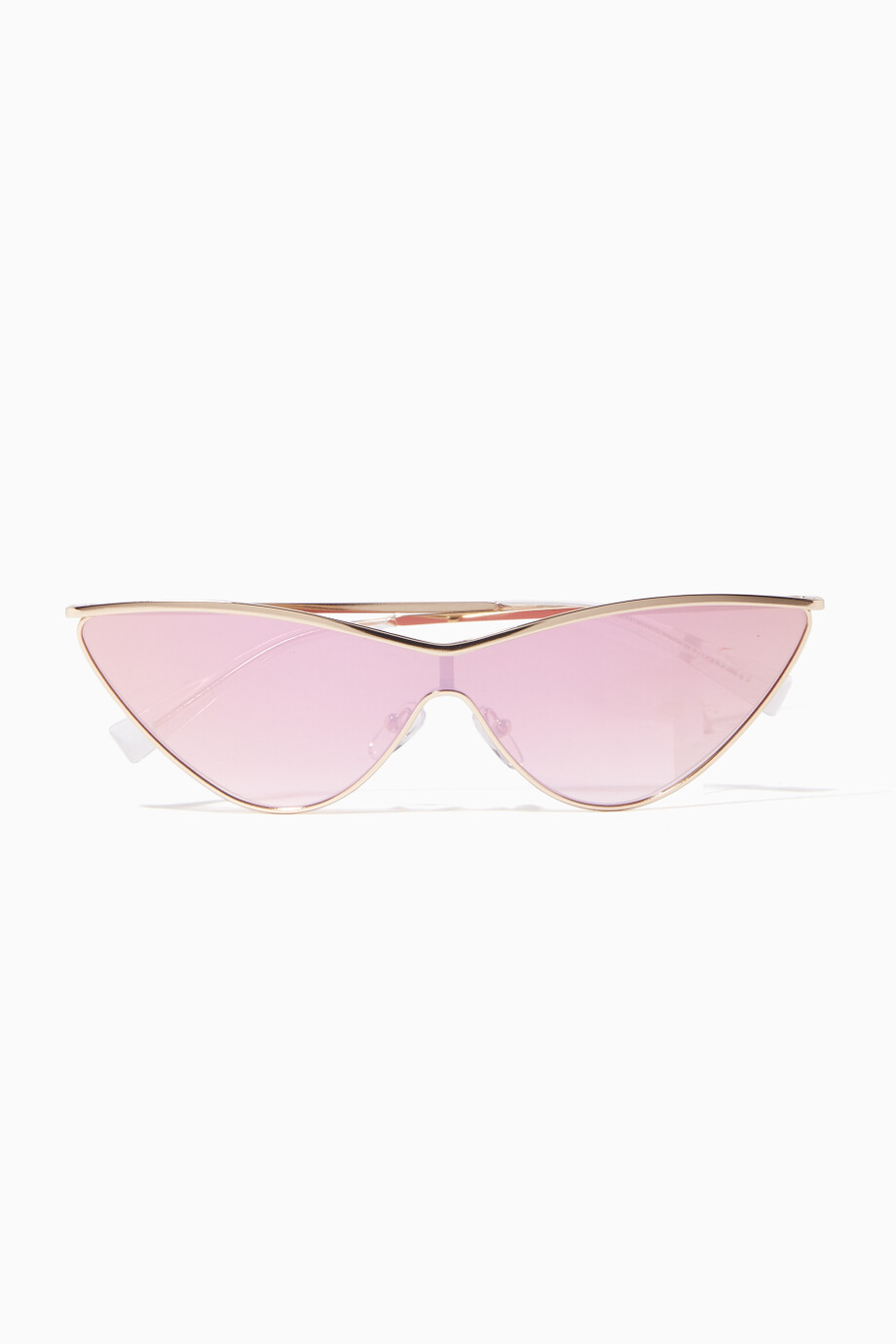 2ee1f415e1 Shop Le Specs Gold Gold The Fugitive Sunglasses for Women