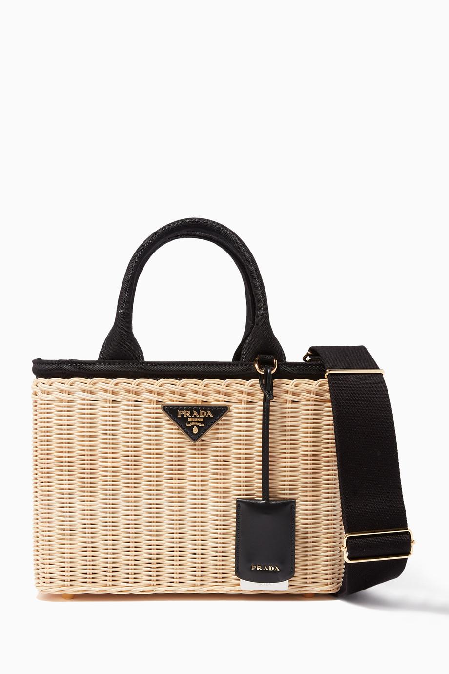 à bas prix recherche d'authentique offre Shop Prada Black Natural & Black Midollino Picnic Basket ...