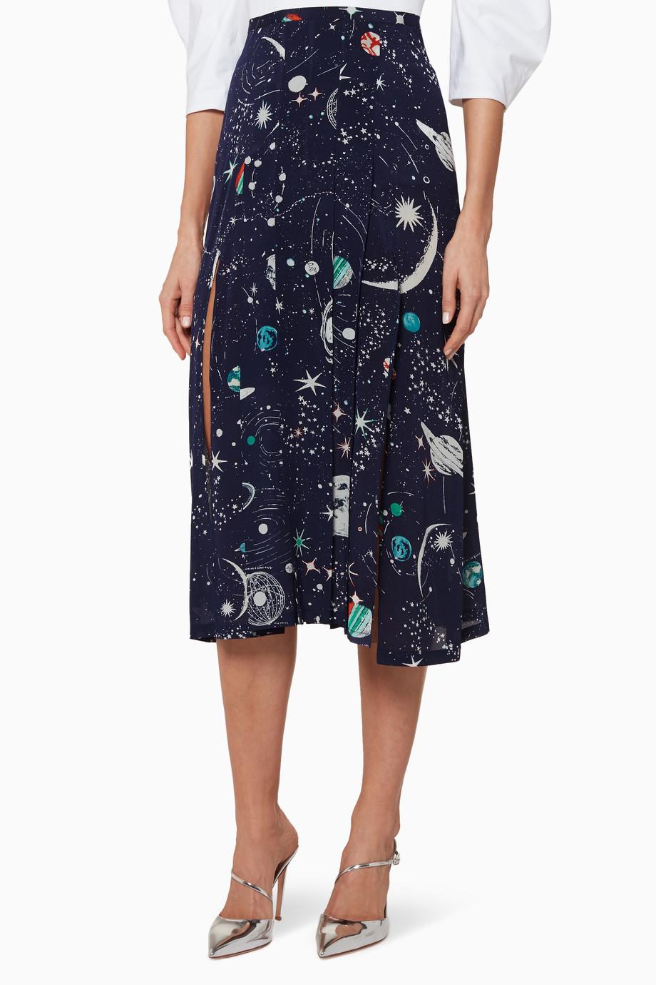 9f7c6ba9015e Shop RIXO Multicolour Multi-Coloured Georgia Midi Skirt for Women ...