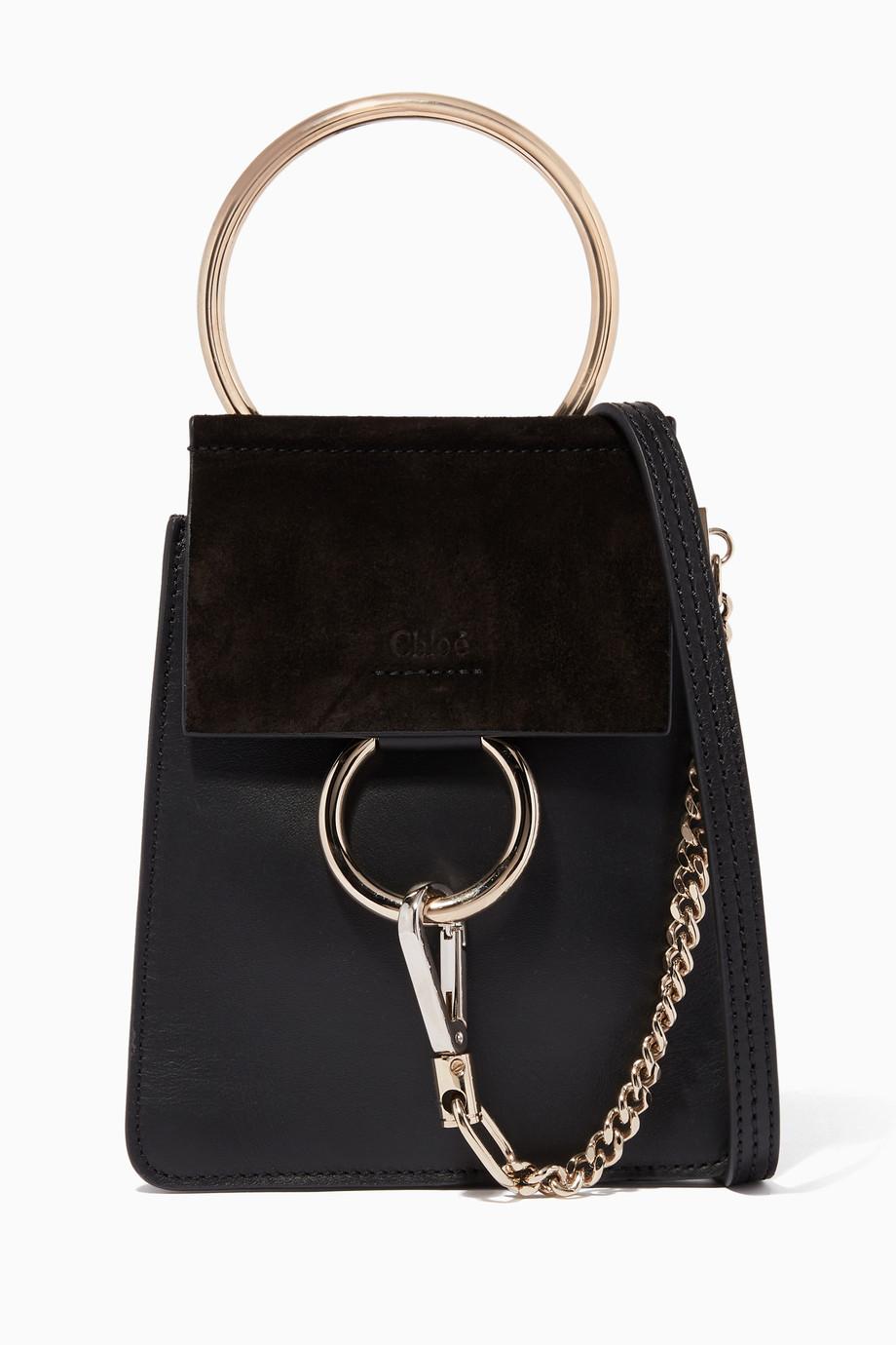 eade4a1c Shop Chloé Black Black Small Faye Bracelet Bag for Women ...