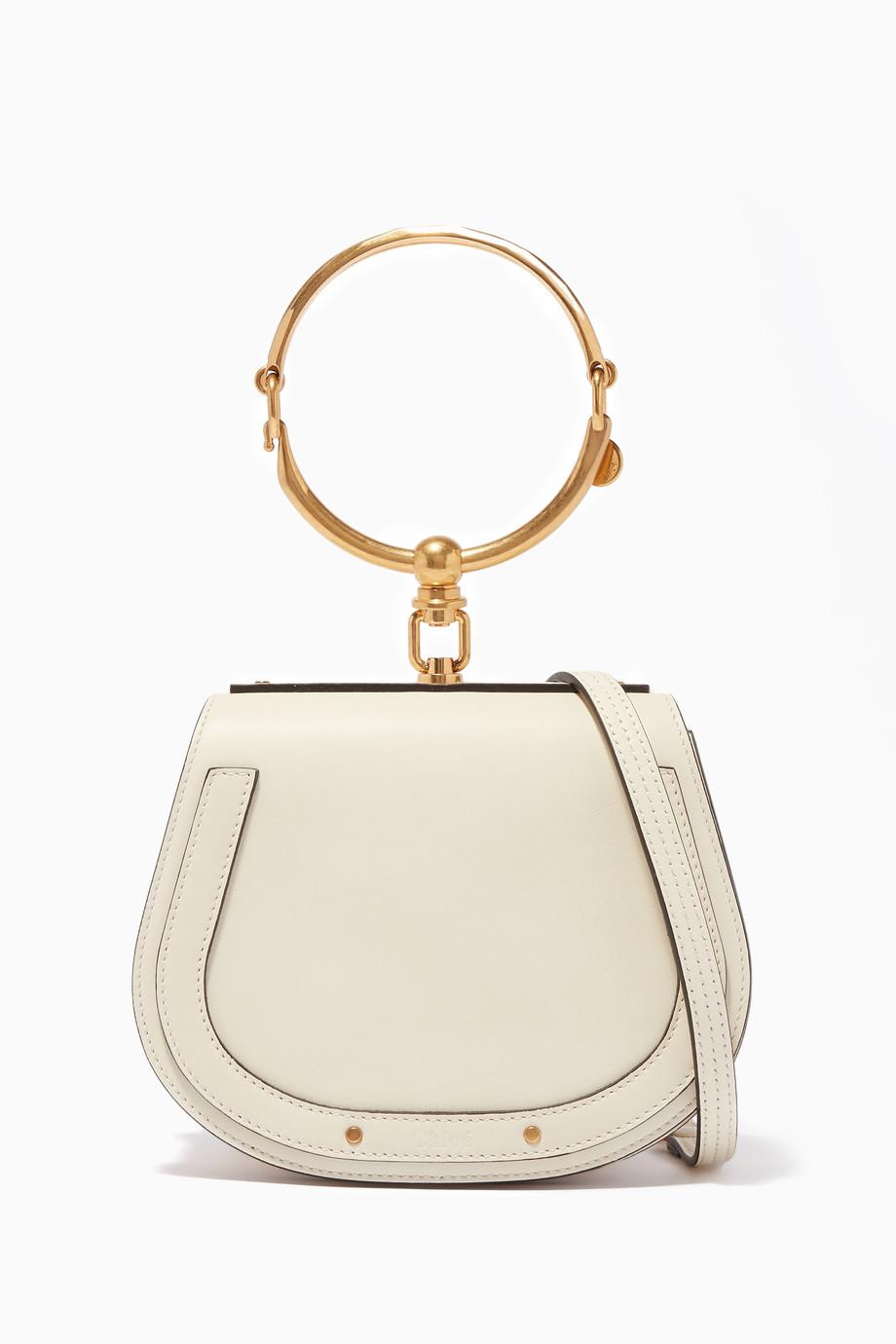 ec6c2082 Shop Chloé Neutral Nile Small Leather Bracelet Bag for Women ...