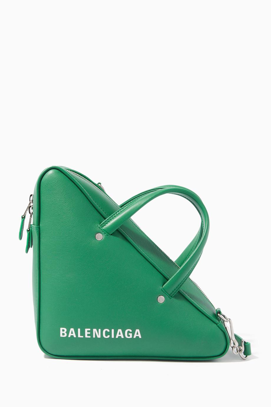 25626cb47473 Shop Balenciaga Green Green Triangle Duffle Bag for Women