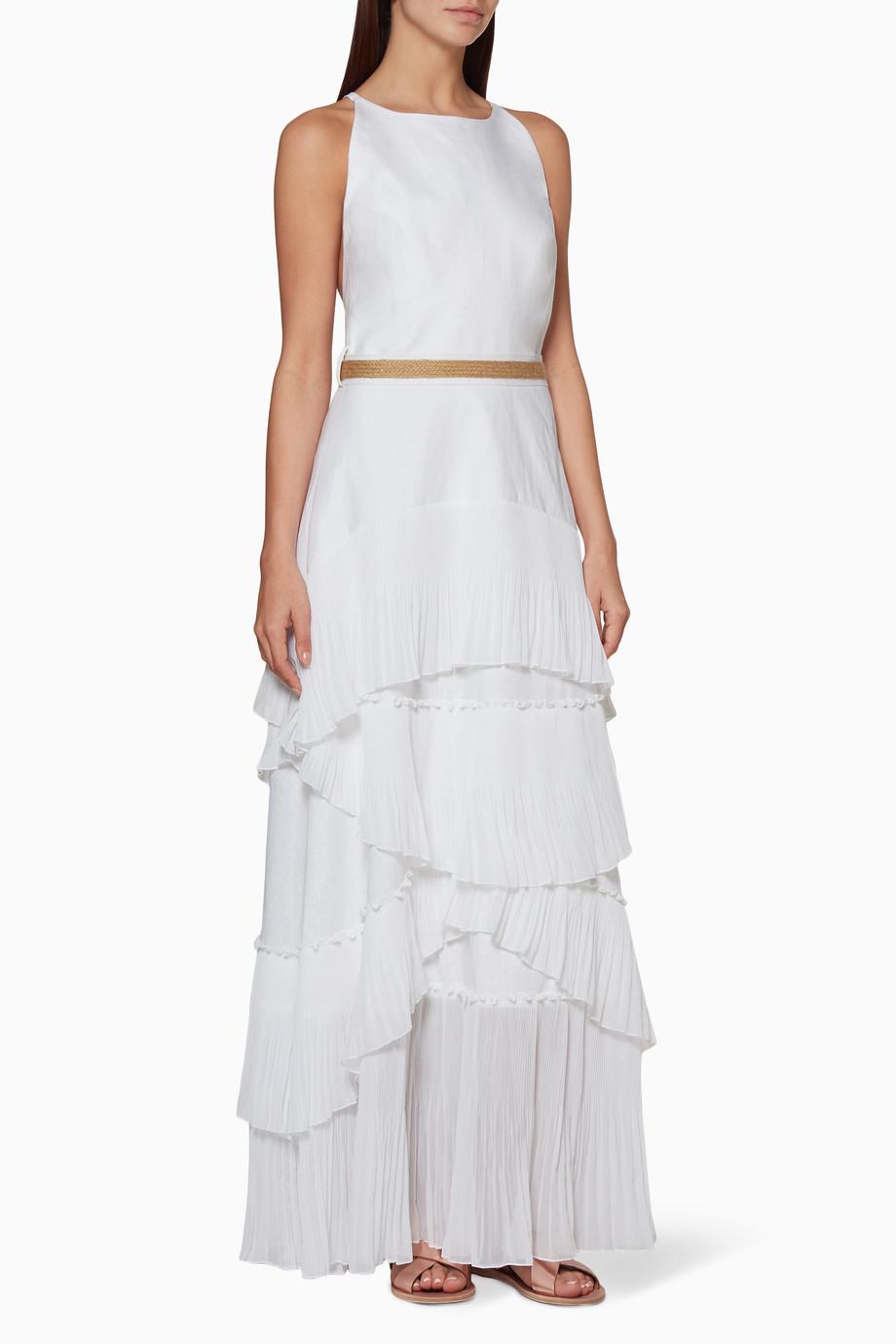 992c30828242f تسوق فستان ديا كشكش أبيض ان ذا مود فور لوف ابيض للنساء