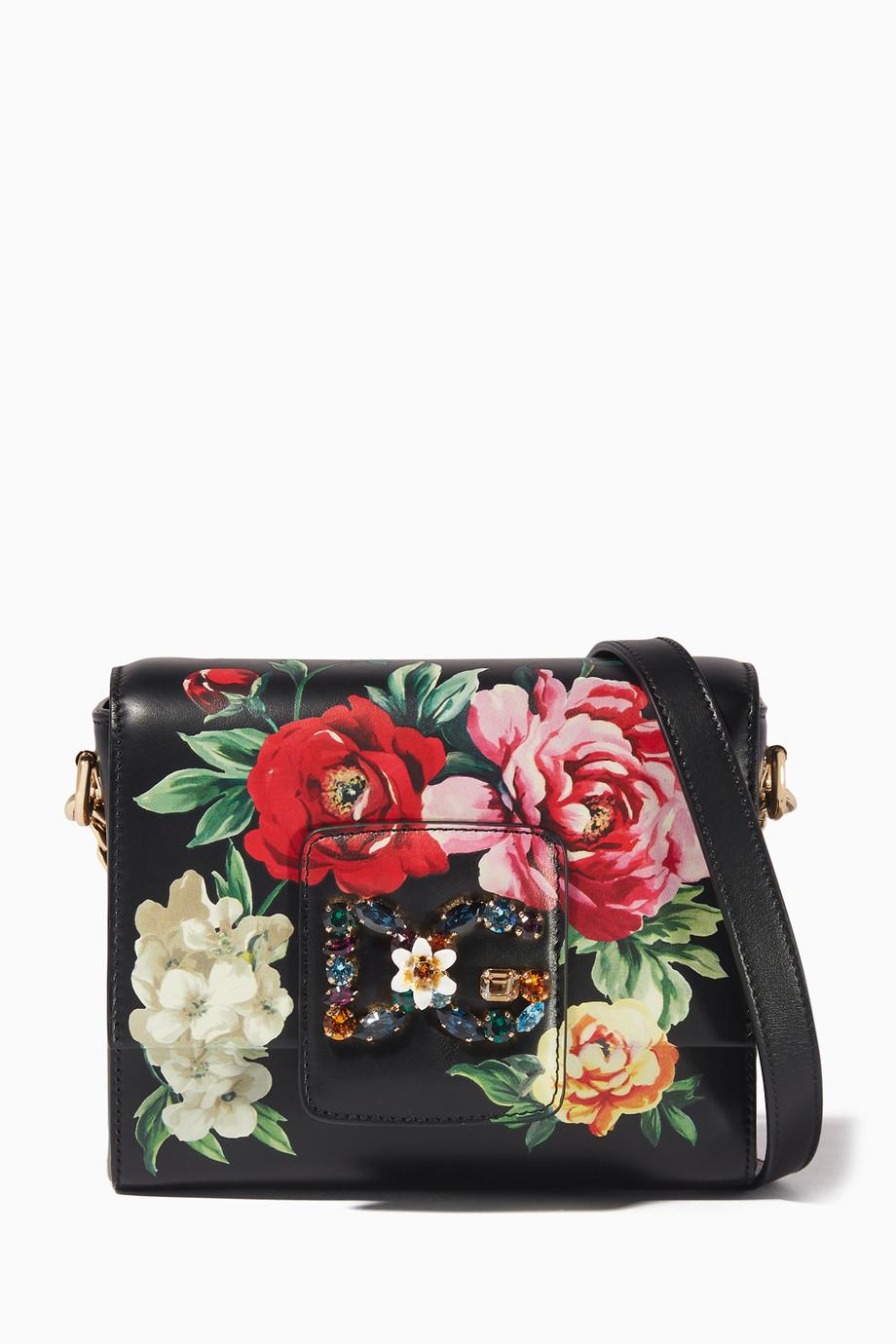 f2e0da568e6 Shop Dolce & Gabbana Black Mini Rose Embellished Millennials ...