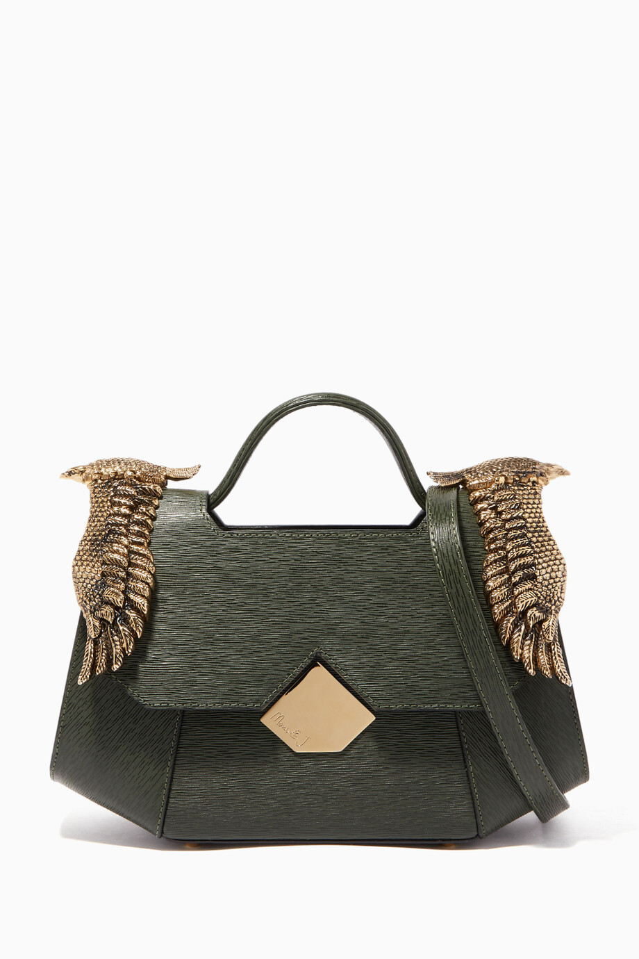 e8888e32aa Shop Moni   J Green Olive Green Baby Colonel Lizard-Effect ...