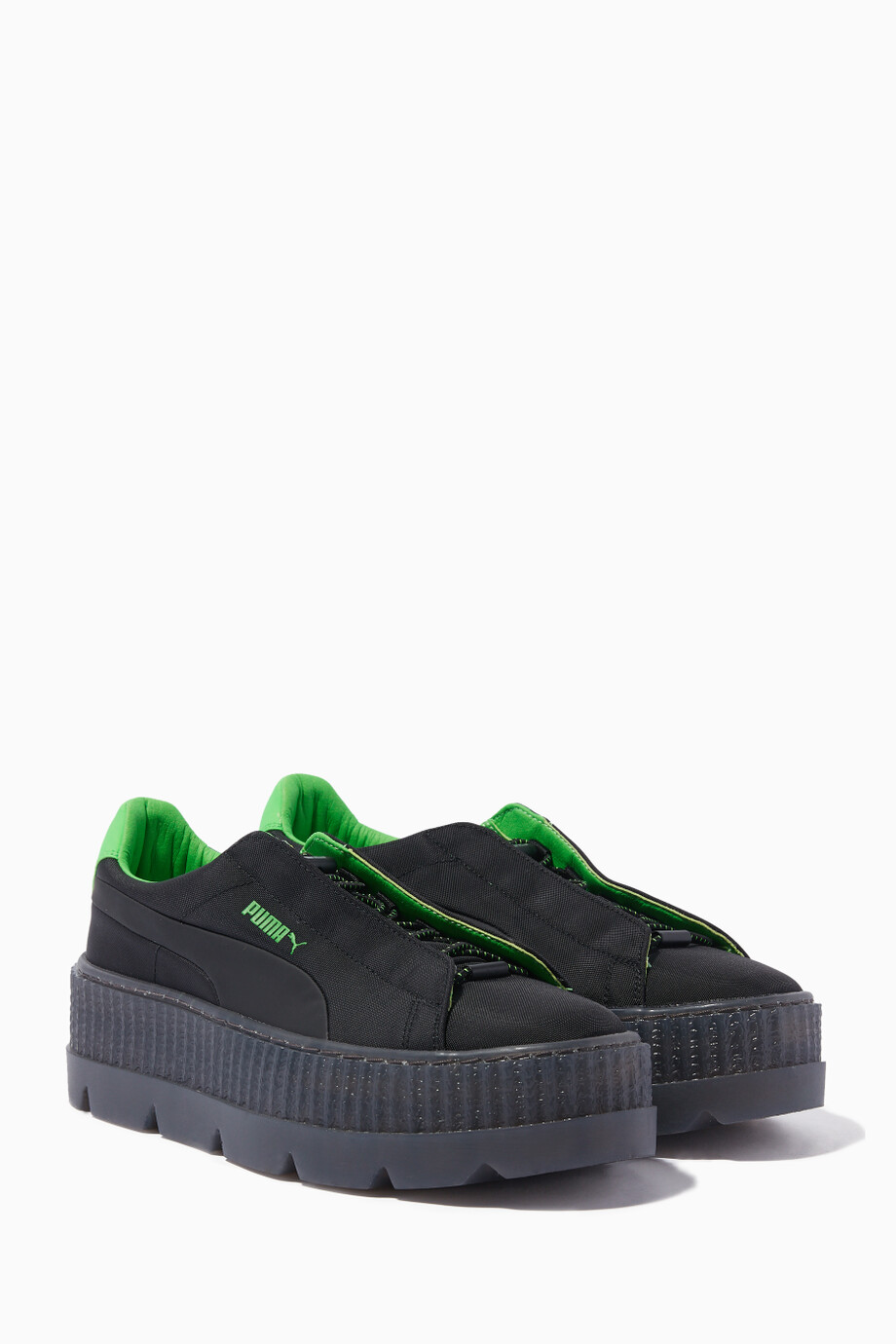 the best attitude c830b a8246 Shop Puma x Rihanna Black Black Cleated Creeper Surf ...