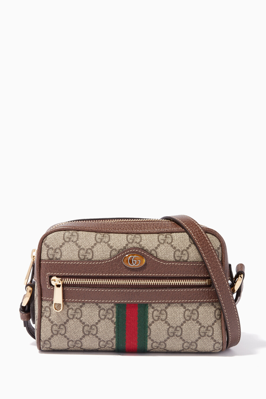 2c86fded5690d0 Shop Gucci Neutral Beige Mini Ophidia GG Printed Camera Bag for ...