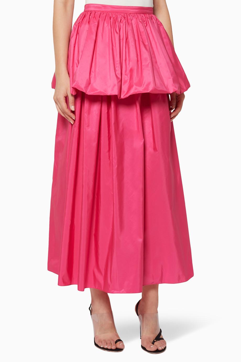 969a109be0 Shop Stella McCartney Pink Pink Noelle Peplum Maxi Skirt for Women ...