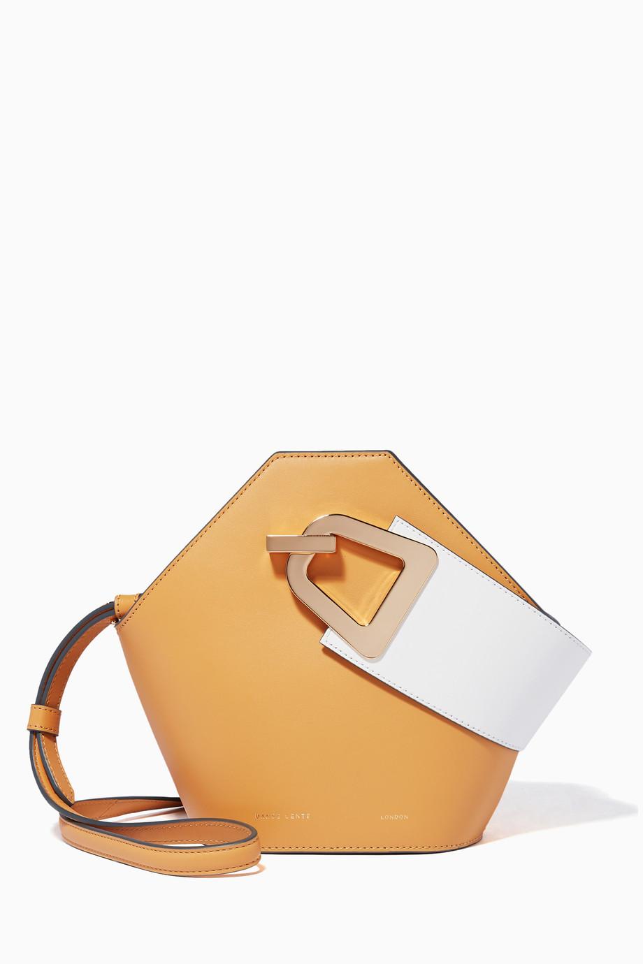 7102b22e6fd Shop Danse Lente Neutral Beige Leather Mini Johnny Bucket Bag for ...