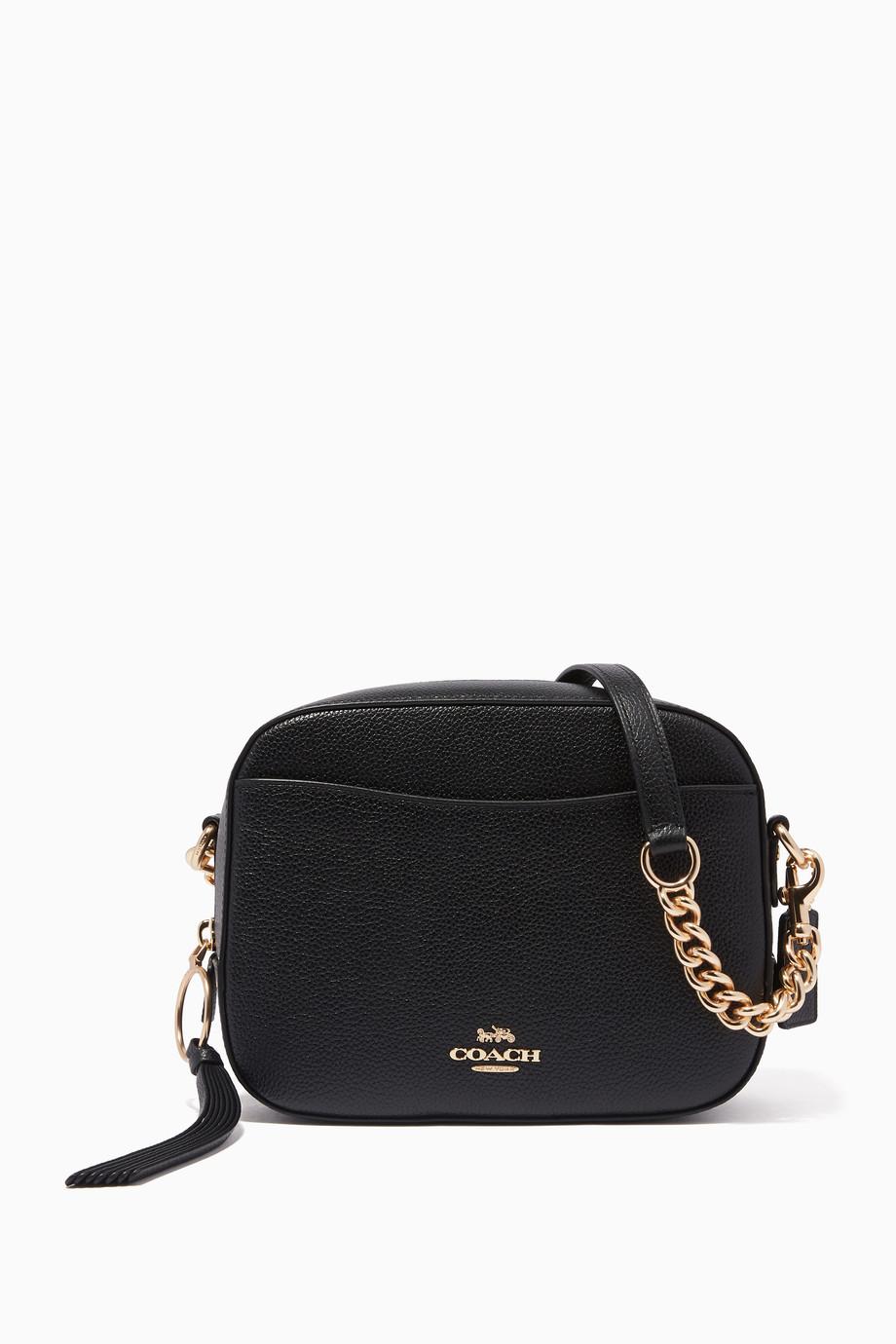 7c95226bbe6d0 تسوق حقيبة كروس كاميرا صغيرة سوداء Coach أسود للنساء