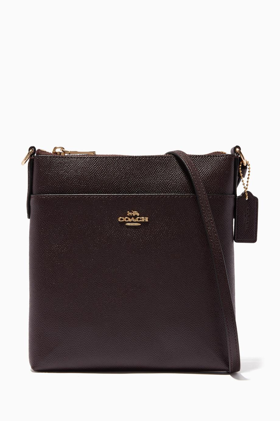 5ad3b79040c9 Shop Coach Burgundy Dark-Red Messenger Cross-Body Bag for Women ...