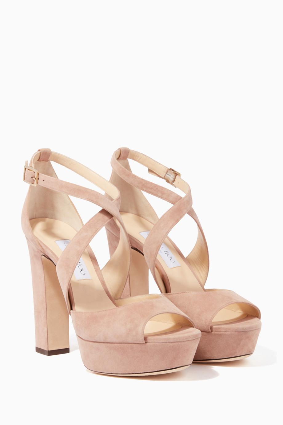 244dd388fca4 Shop Jimmy Choo Pink Ballet-Pink April 120 Sandals for Women ...