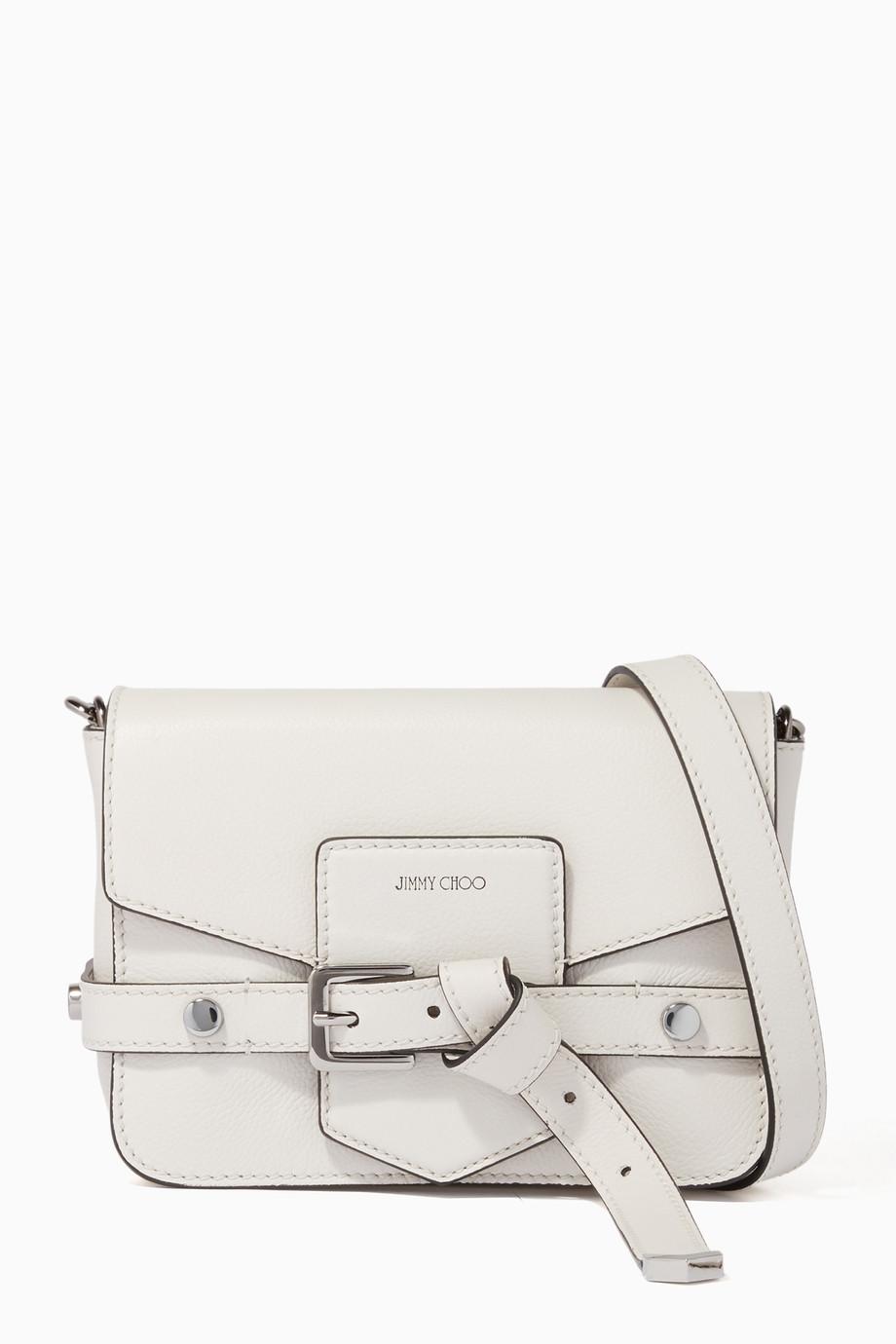 0125df8fe9b97 تسوق حقيبة كتف ليكسي بيضاء Jimmy Choo لون طبيعى للنساء